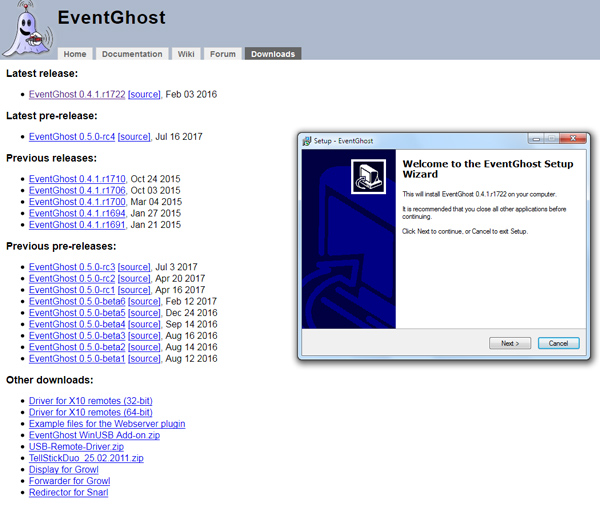 EventGhost Automation tool