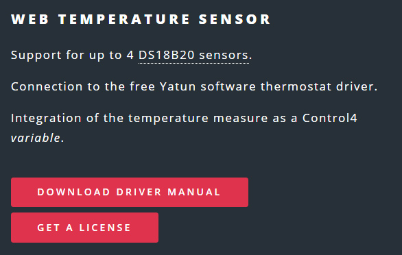 Control4 KMTronic Web Temperature Sensor Driver from soft.kiwi Software business line of Kiwifarm Srl