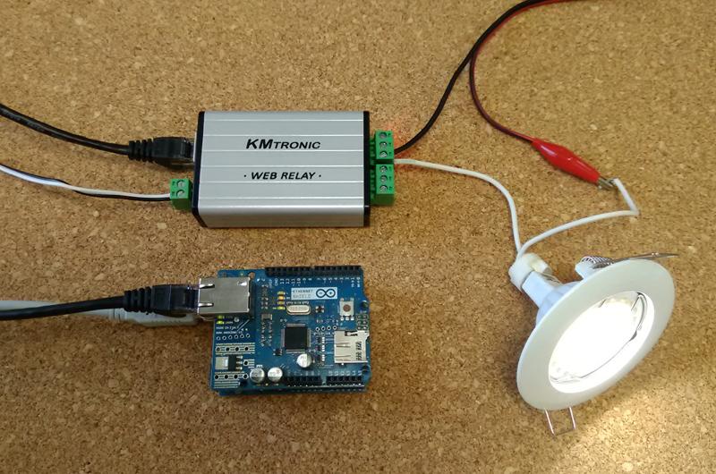 Arduino sketch turn on relay kmtronic lan board