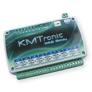 KMTronic LAN Ethernet IP 8 channels WEB Relay board BOX
