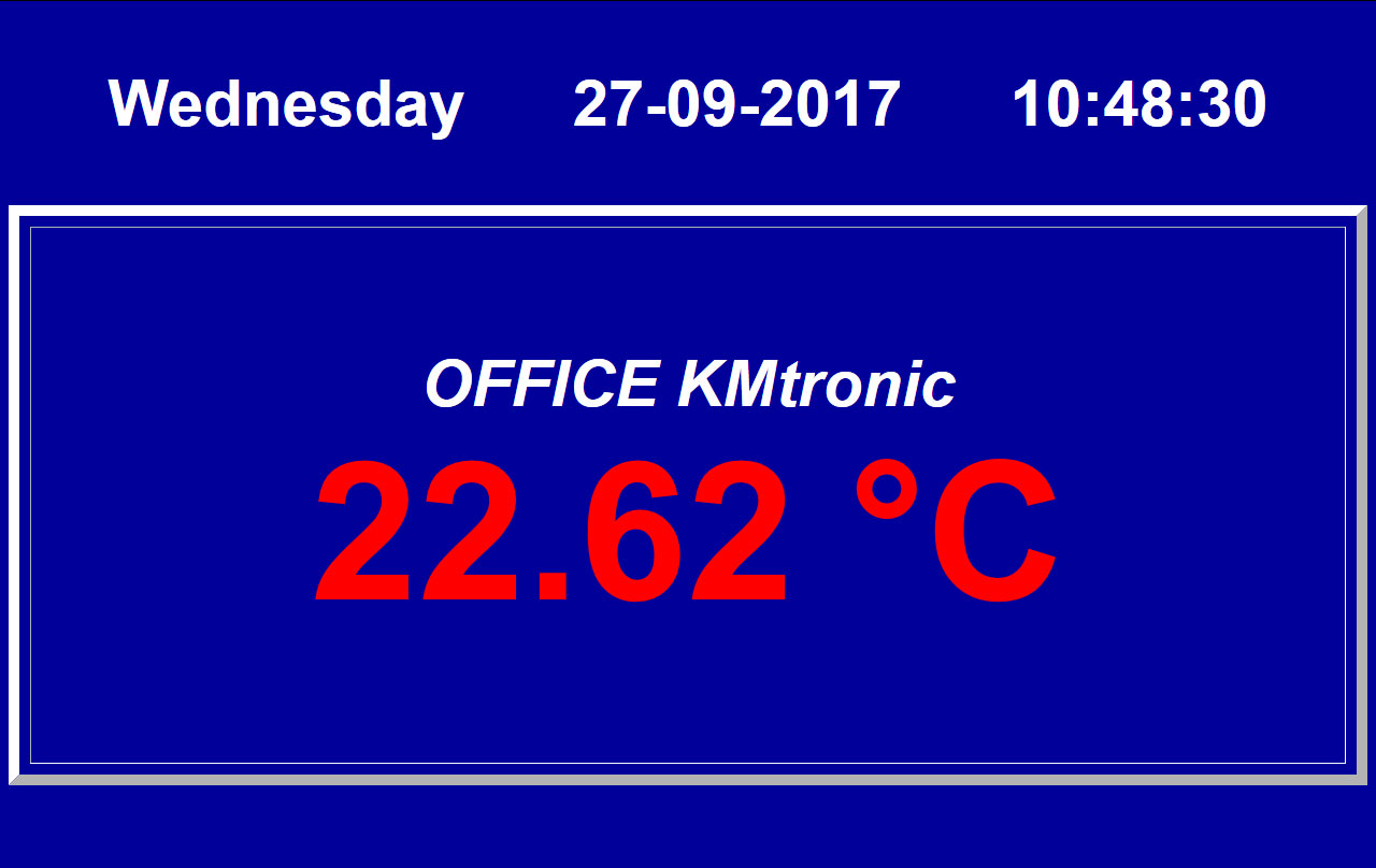 WEB PHP file for display temperature from KMtronic Temperature Monitor