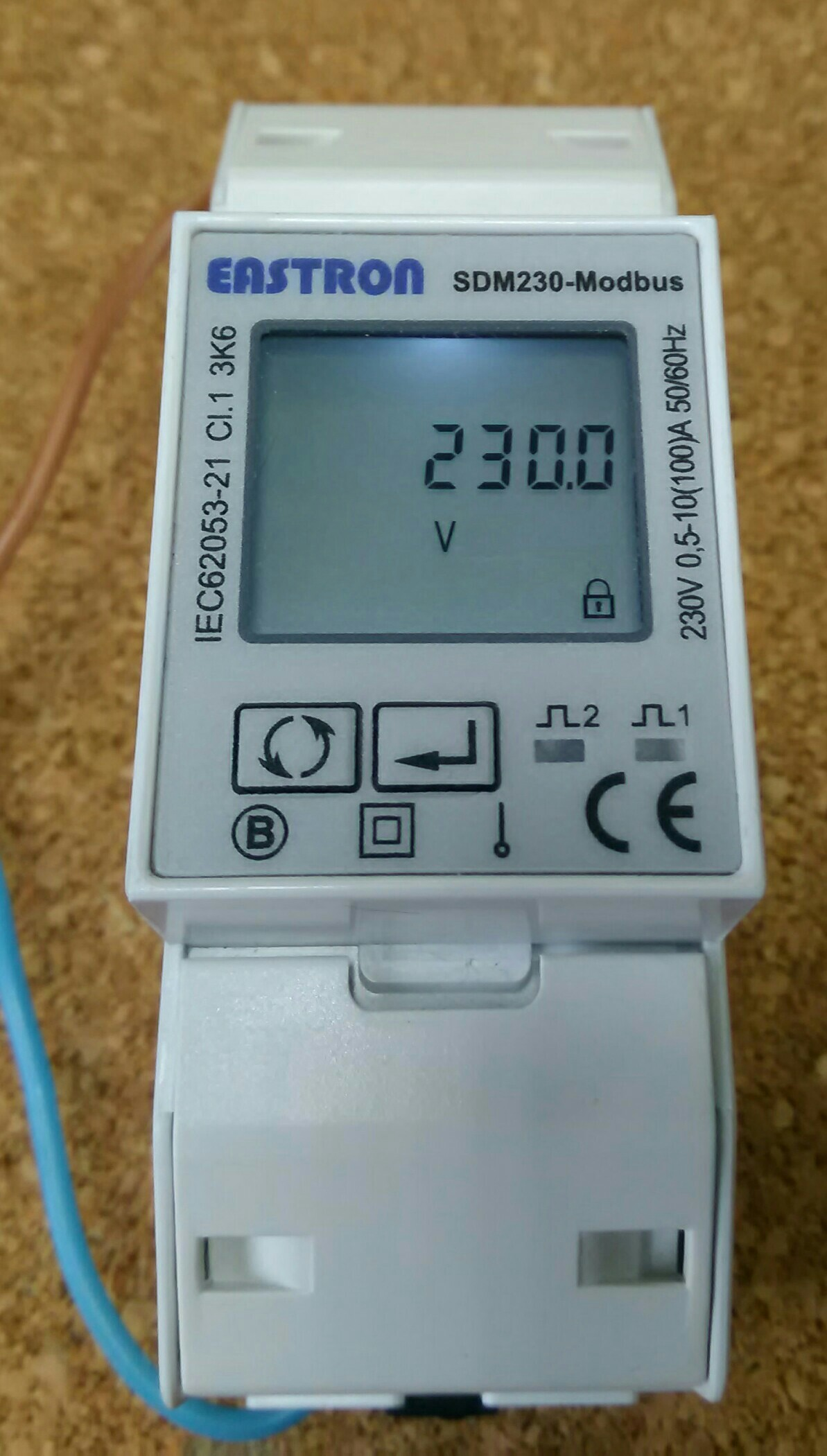 Reading Voltage from SDM120 Modbus Power Energy Meter via TCP<>RS485 bridge via PHP