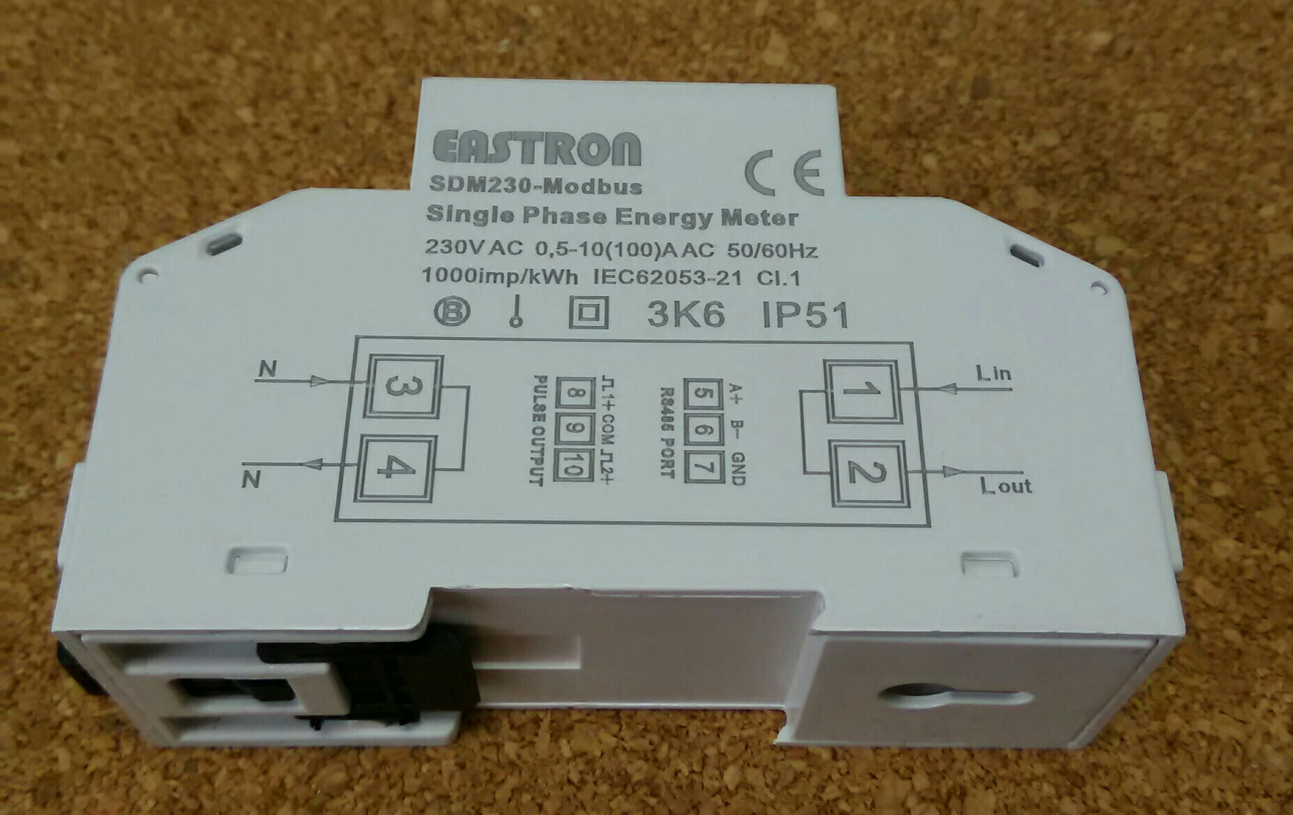 SDM230 Modbus 220/230V Single Phase Energy Meter