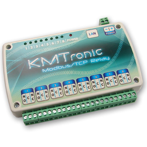 KMtronic LAN Ethernet IP 8 channels Modbus/TCP Relay board