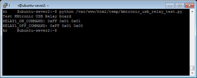 How to send bytes to serial port in Python | Control KMtronic USB Relay board example