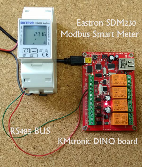 Arduino code: Read Voltage from Eastron SDM230 Modbus Smart