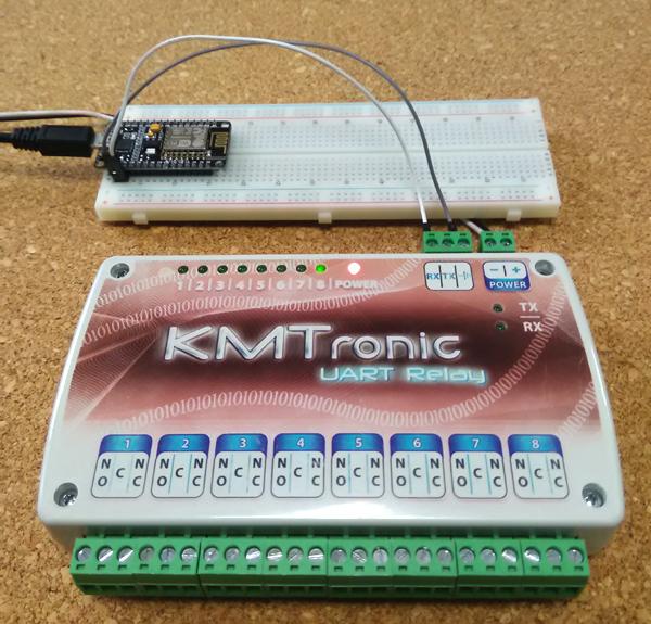 ESP8266 NodeMCU: KMtronic UART 8 Channel Relay Controller control