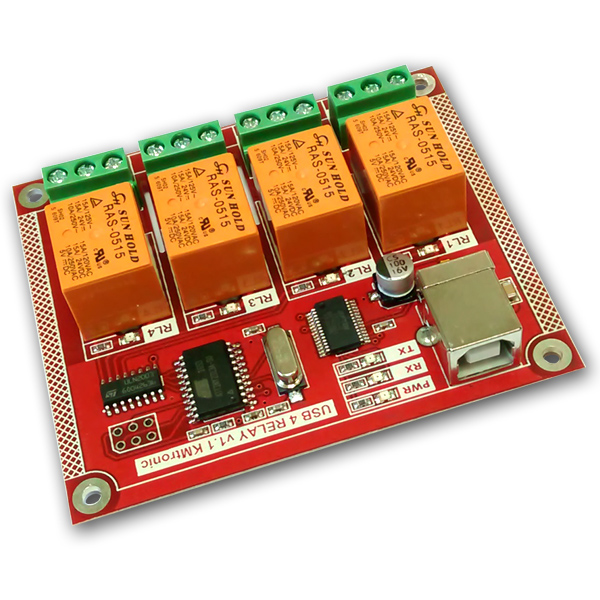KMtronic USB 4 Relay board PCB V1.1
