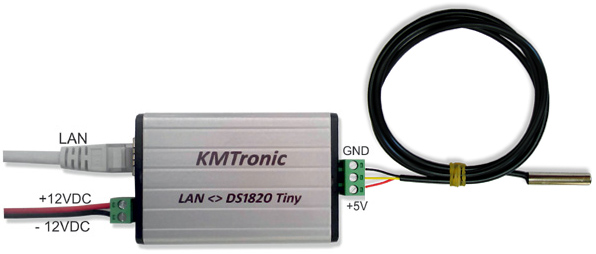 Heat and Measuring Temperature using KMtronic LAN DS18B20 WEB Temperature Monitor